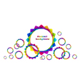 abstract geometric rainbow circles background vector image