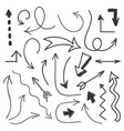arrows big set - hand drawn arrows isolated on vector image