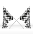 Black and white checkered crossed finish flags vector image