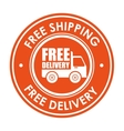 sign free shipping delivery truck icon vector image