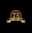 75th years anniversary logo template design