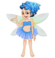 A cute fairy vector image vector image