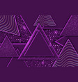 abstract 3d triangle luxury background vector image vector image