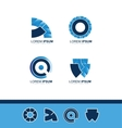 Abstract blue company logo icon vector image