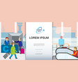 air travel colorful template vector image vector image