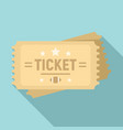 american football ticket icon flat style vector image