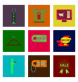 assembly of flat shading style icon set gifts and vector image vector image