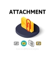 Attachment icon in different style vector image vector image
