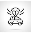 Auto insurance black line design icon vector image vector image