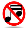 Ban sound vector image vector image