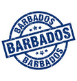 barbados blue round grunge stamp vector image vector image