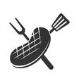 barbecue beef roast logo template badge design vector image vector image