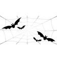 bat icons set bat wings black web silhouette vector image vector image