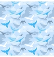 Birds flying in the sky seamless pattern vector image vector image