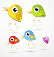 Birds Isolated on Light Background vector image vector image
