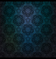 blue dark lace background vector image vector image