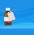 brown bottle for medical solution with blank vector image