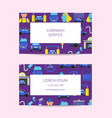 business card template for car washing vector image vector image