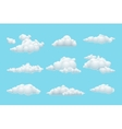 cartoon cloud set vector image vector image
