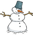 cartoon doodle snowman vector image
