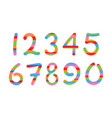 colored arabic numerals set 1-10 vector image