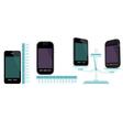 comparative characteristics of phones vector image