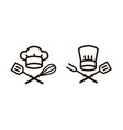 cooking barbecue logo or icon elements the vector image