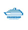 Cruise ship - logo concept vector image vector image