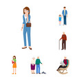 design of family and people sign set of vector image
