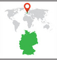 Detailed map of germany and world map navigation