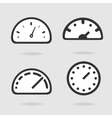 Dial panel vector image vector image