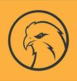 Eagle hawk falcon logo Sport mascot Predator bird vector image vector image