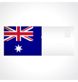 envelope with australian flag card vector image vector image