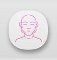 face swelling app icon vector image vector image
