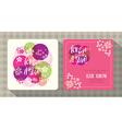 floral cherry blossom wedding invitation card vector image