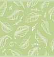 foliage seamless pattern sketch hand drawn vector image