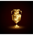 golden low poly euro football cup vector image vector image