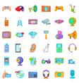 good gadget icons set cartoon style vector image vector image