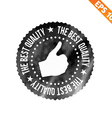 Grunge highest quality guarantee rubber stamp vector image