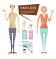 hair loss drugs concept vector image
