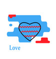 heart with wave icon trendy modern concept vector image vector image