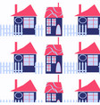 houses abstract funny city background design image vector image