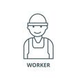 laborworkerbuilder line icon linear vector image vector image