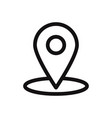 location icon pin symbol map pin pointer vector image vector image