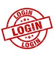 login round red grunge stamp vector image vector image