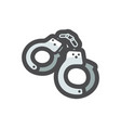 manacle police handcuffs bracelets icon vector image
