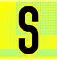 modern font trendy alphabet black letter vector image