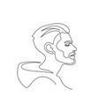 modern portrait man with beard in profile one vector image