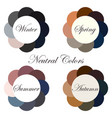 neutral colors seasonal color analysis palettes vector image vector image