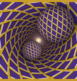 optical two balls are moving on vector image vector image